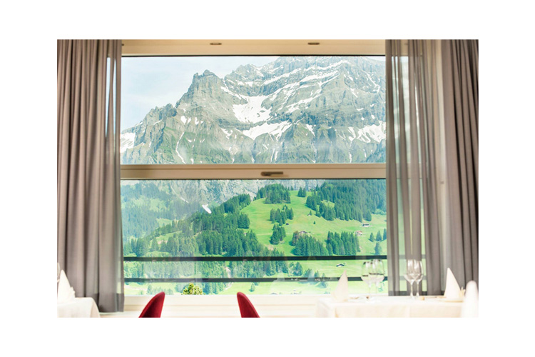 View from the Restaurant - Bellevue Parkhotel & Spa - Adelboden