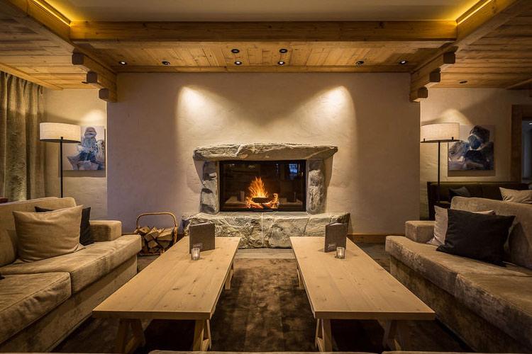 Fireplace - Hotel Spitzhorn - Saanen