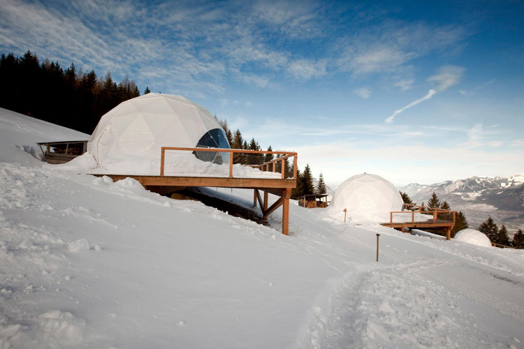 Exteriors at Winter - Whitepod - Les Giettes