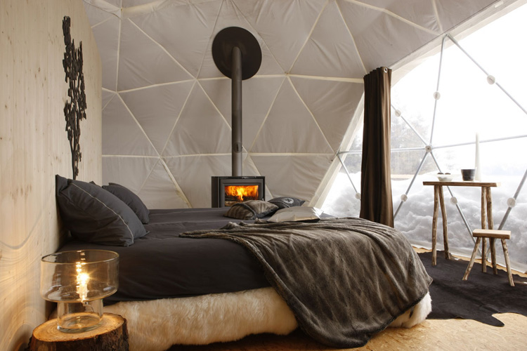 Interiors at Winter - Whitepod - Les Giettes