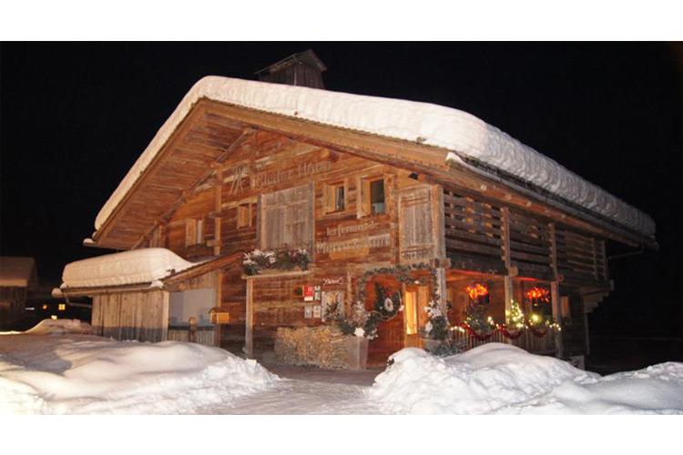 Facade at winter - Les Fermes de Pierre et Anna - Le Grand Bornand