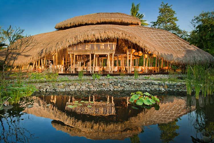 Bamboo Restaurant - Fivelements Puri Ahimsa - Mambal