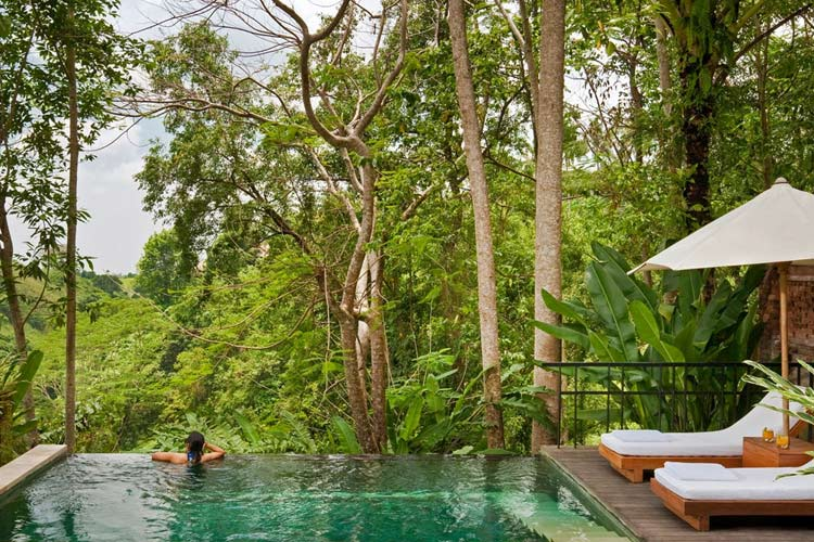 Uma by como a boutique hotel in ubud for Garden pool villa ubud