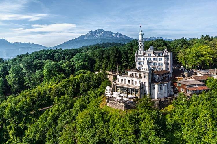 Aerial View - Chateau Gütsch - Luzern