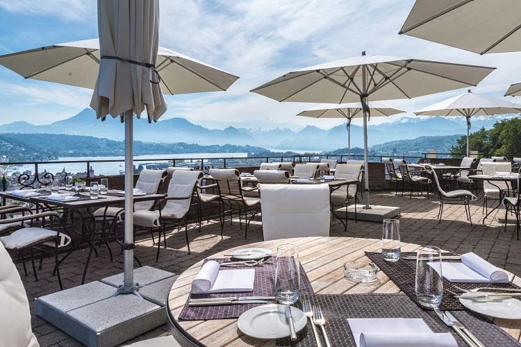 Terrace Restaurant - Chateau Gütsch - Luzern