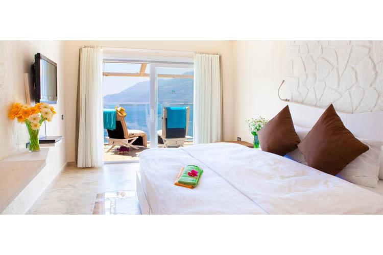 Sea View Room (Aquamarine) - Peninsula Gardens Hotel - Kas