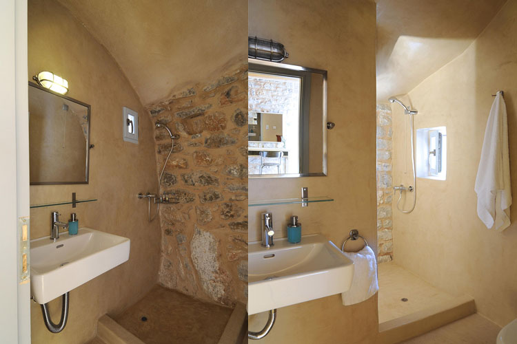 Classic Double Room Bathroom - Antares Hotel Mani - Areopoli