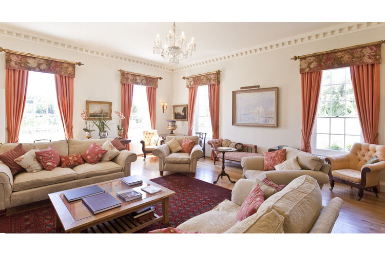 Lounge - Pentillie Castle and Estate - Saltash