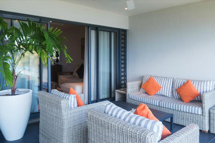 Terrace - Leora Beachfront - Tamarin