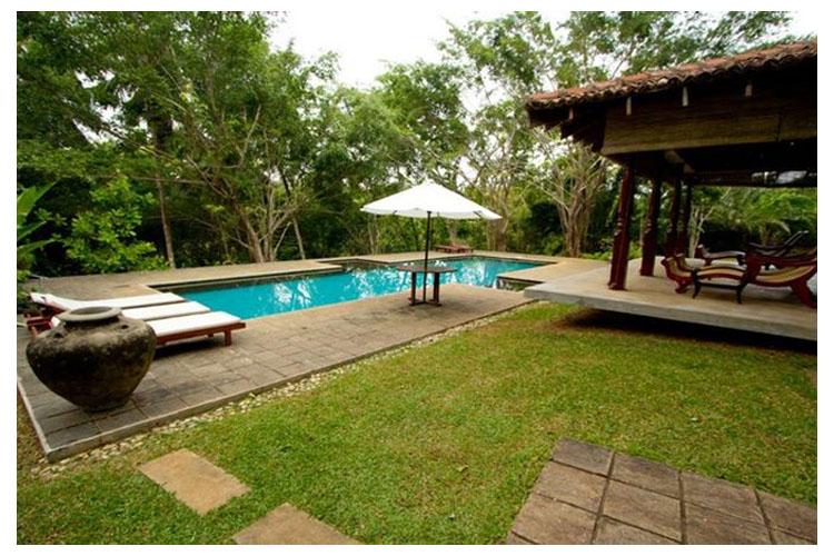 Pool and Garden - The River House - Balapitiya