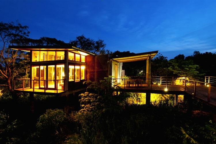 Facade Night View - Wild Grass Nature Resort - Sigiriya