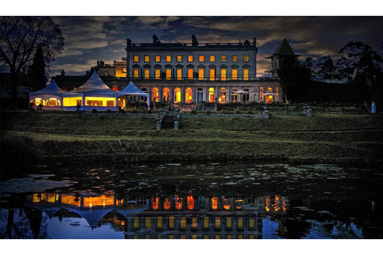 Facade Night View - Cowley Manor Hotel - Cheltenham