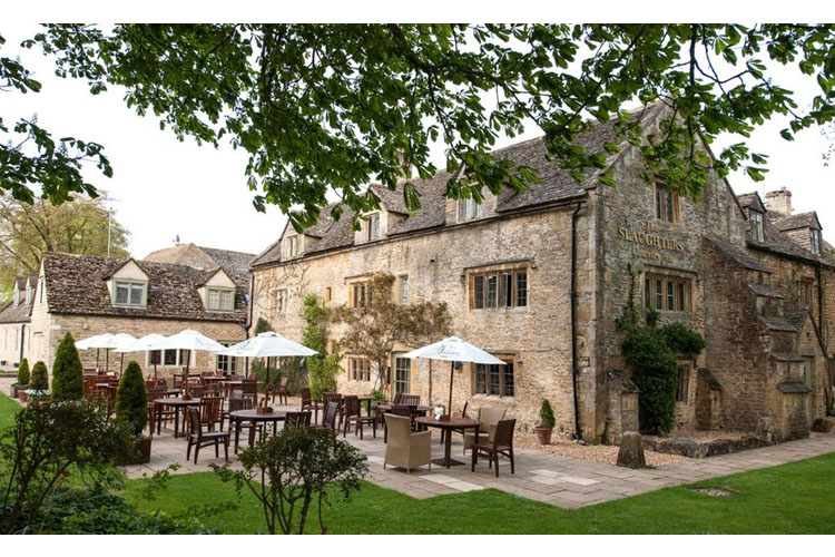 Facade and Terrace - The Slaughters Country Inn - Lower Slaughter