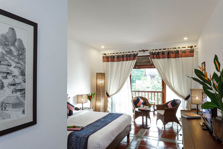 Deluxe Rooms - Hmong style - Riverside Boutique Hotel - Vang Vieng