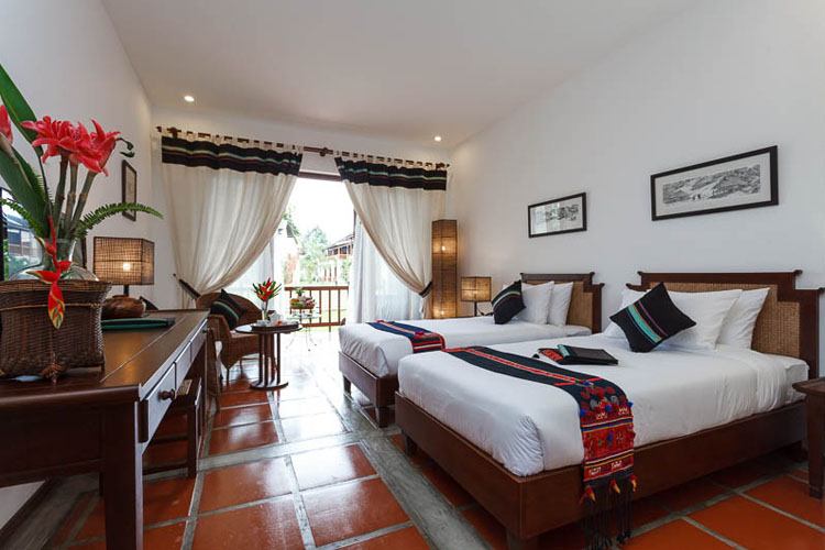 Deluxe Rooms - Akha style - Riverside Boutique Hotel - Vang Vieng