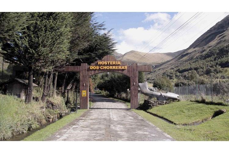 Entrance - Hosteria dos Chorreras - Cuenca