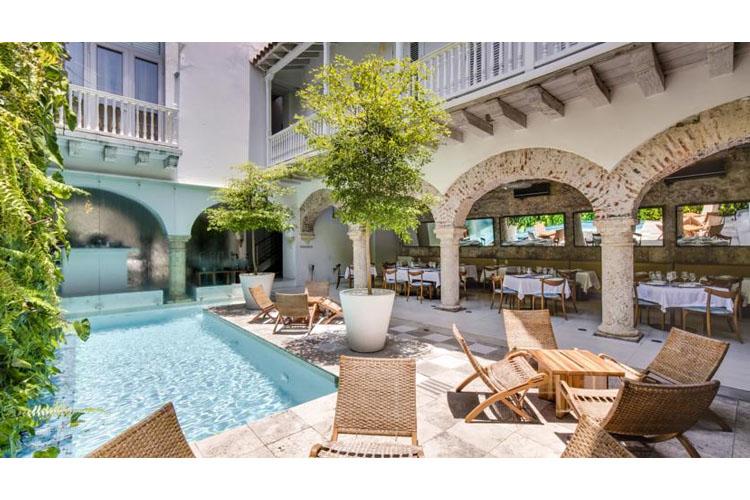 Pool and Exterior Dining Room - Tcherassi Hotel + Spa - Cartagena