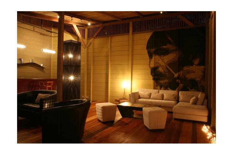 Living Room - Hamadryade Lodge - Puerto Misahuallí